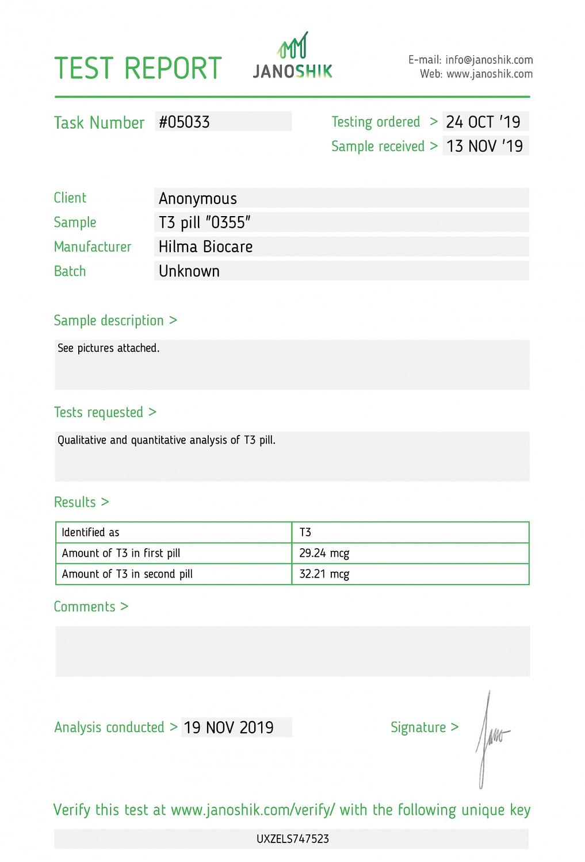 hilma biocare t3
