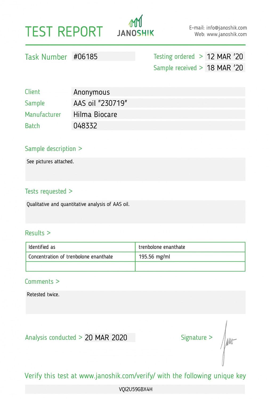 Hilma Biocare Trenbolone Enanthate